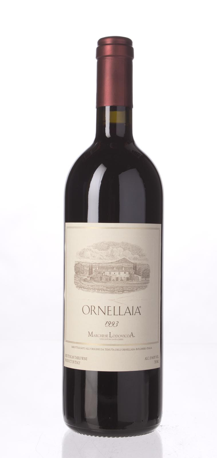 Tenuta dell`Ornellaia `Ornellaia` 1993, 750mL (WA88) from The BPW - Merchants of rare and fine wines.