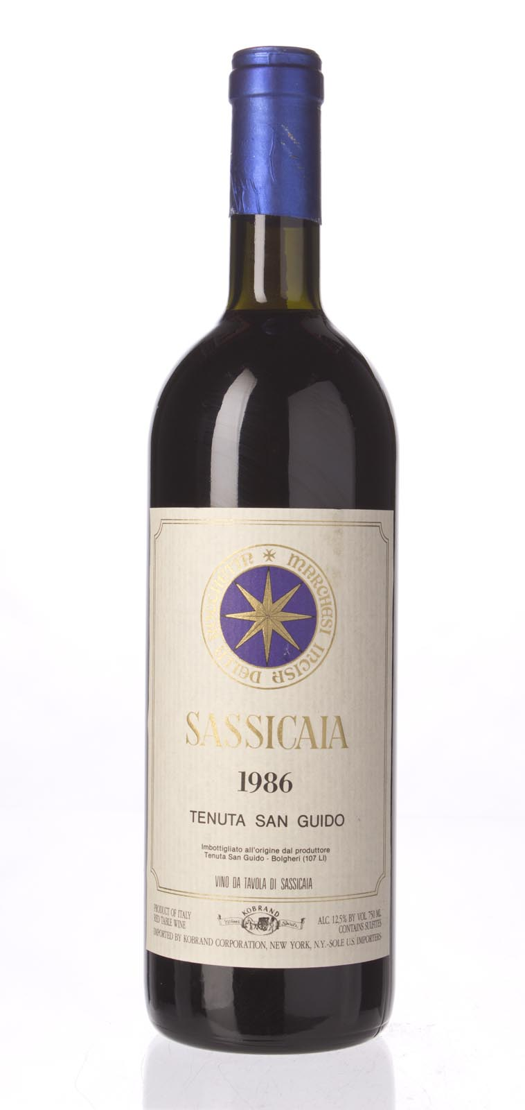 Tenuta San Guido Sassicaia 1986, 750mL (WS95) from The BPW - Merchants of rare and fine wines.