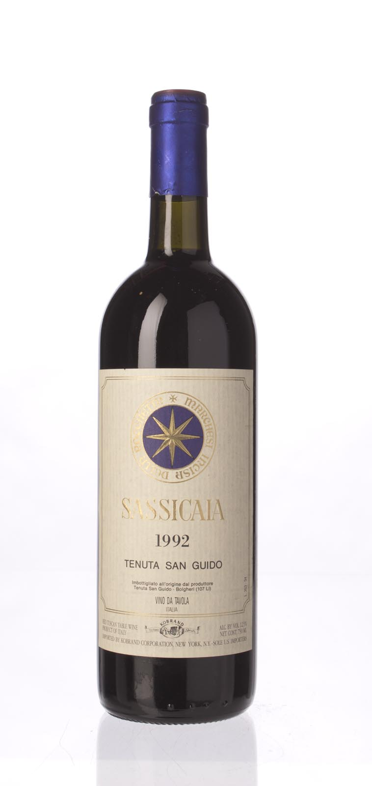 Tenuta San Guido Sassicaia 1992, 750mL () from The BPW - Merchants of rare and fine wines.