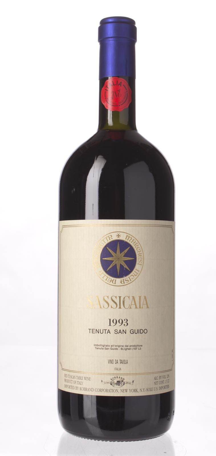 Tenuta San Guido Sassicaia 1993, 1.5L () from The BPW - Merchants of rare and fine wines.