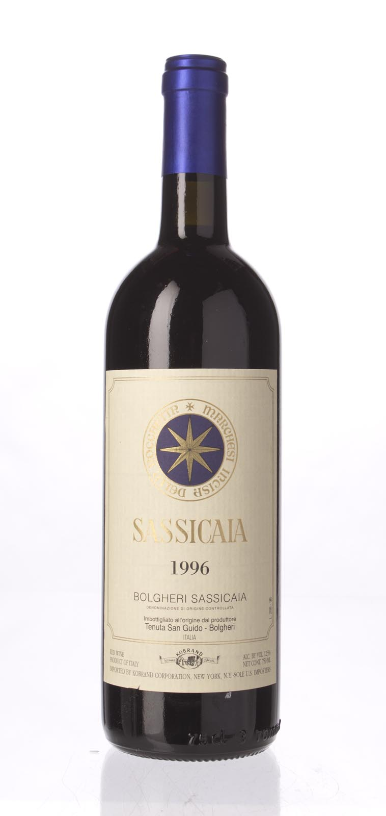 Tenuta San Guido Sassicaia 1996, 750mL (WS91) from The BPW - Merchants of rare and fine wines.