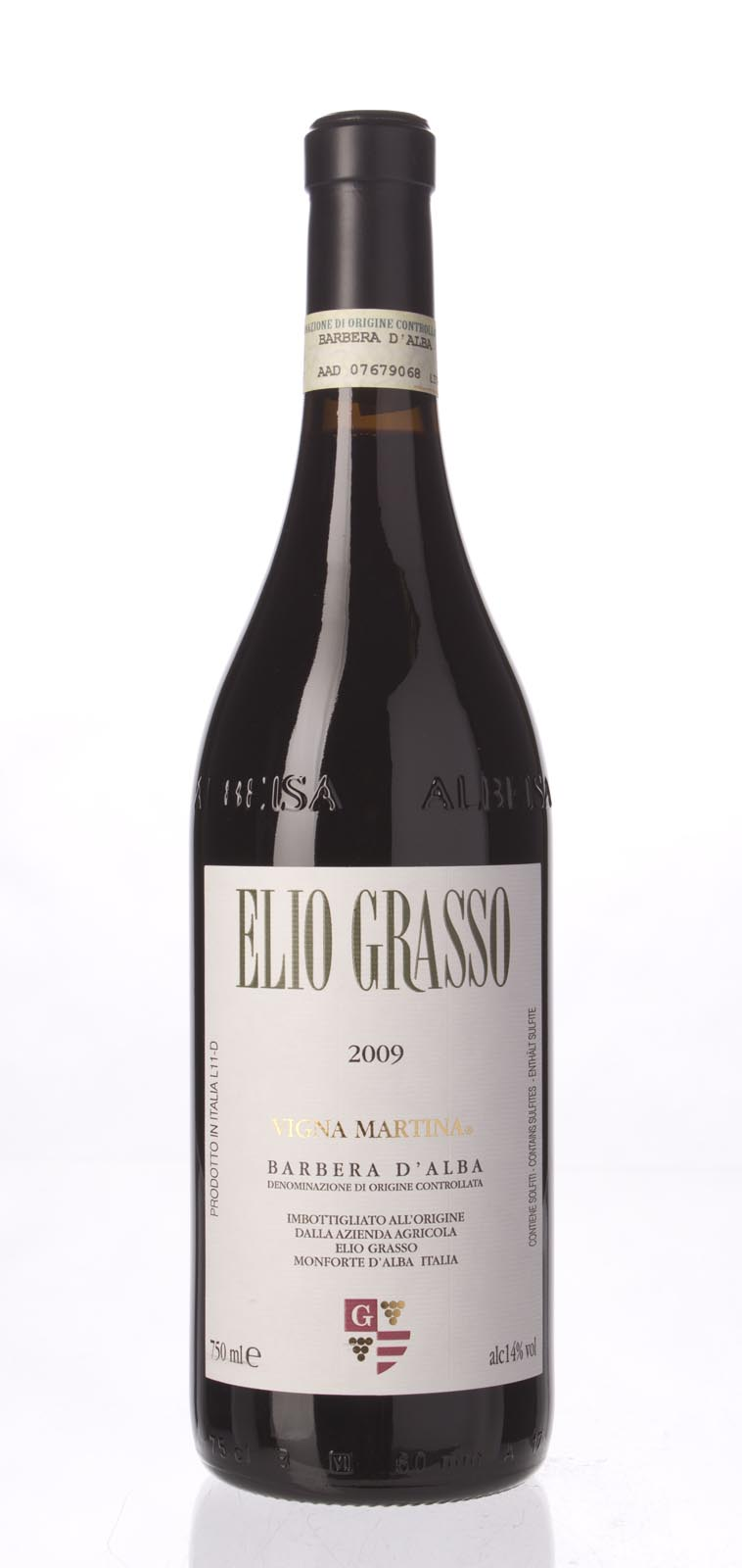 Elio Grasso Barbera d`Alba 2009,  () from The BPW - Merchants of rare and fine wines.