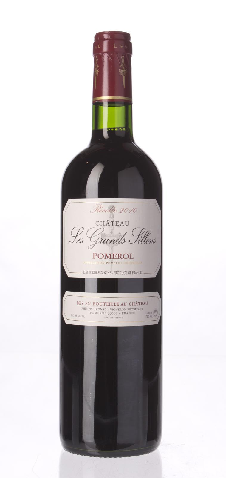Les Grands Sillons Pomerol 2010, 750ml () from The BPW - Merchants of rare and fine wines.