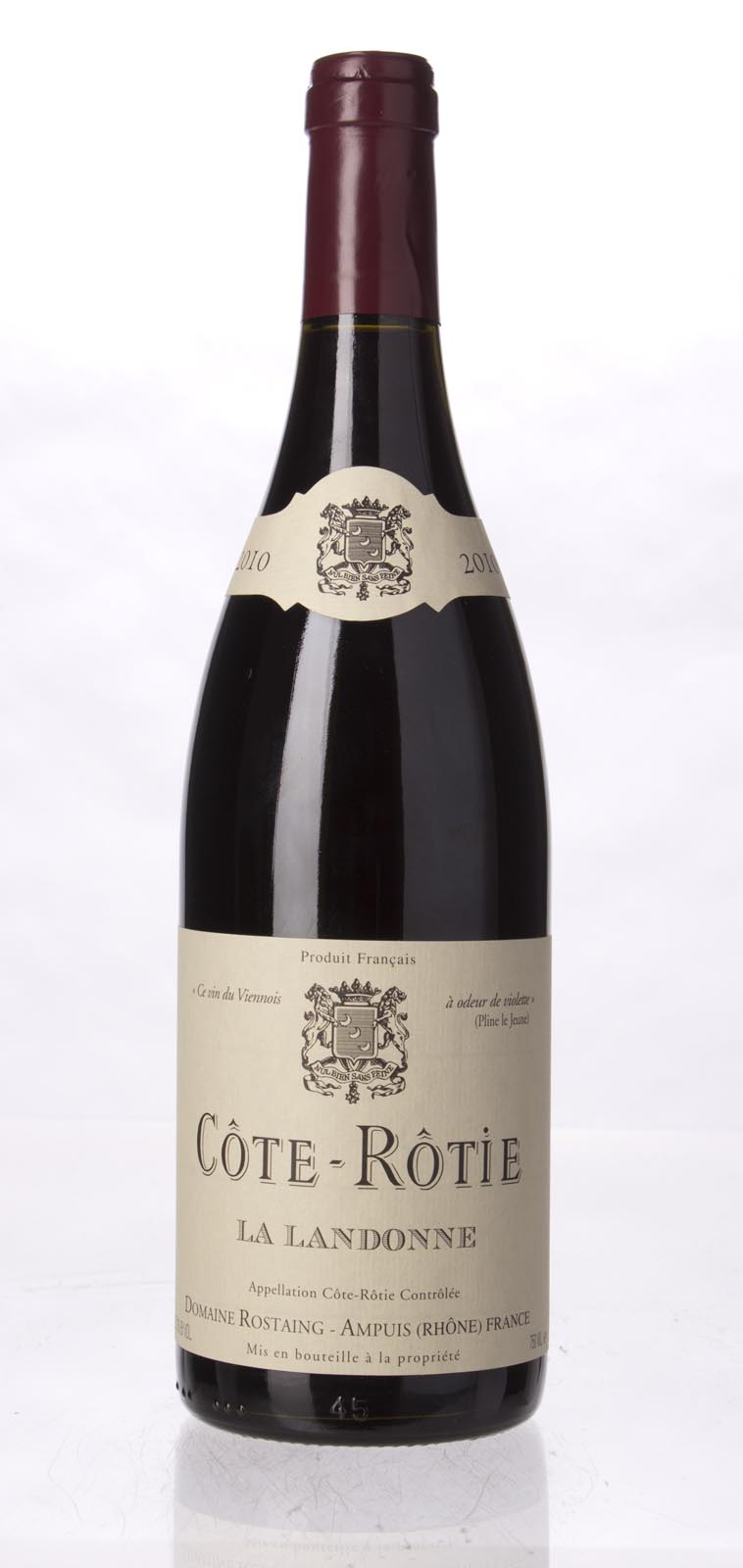 Rene Rostaing Cote Rotie la Landonne 2010, 750ml (WA96) from The BPW - Merchants of rare and fine wines.