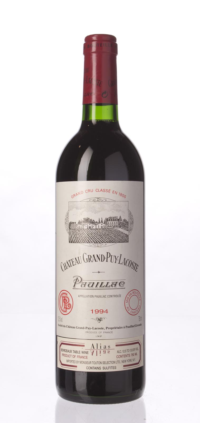 Grand Puy Lacoste 1994, 750mL (WA90) from The BPW - Merchants of rare and fine wines.