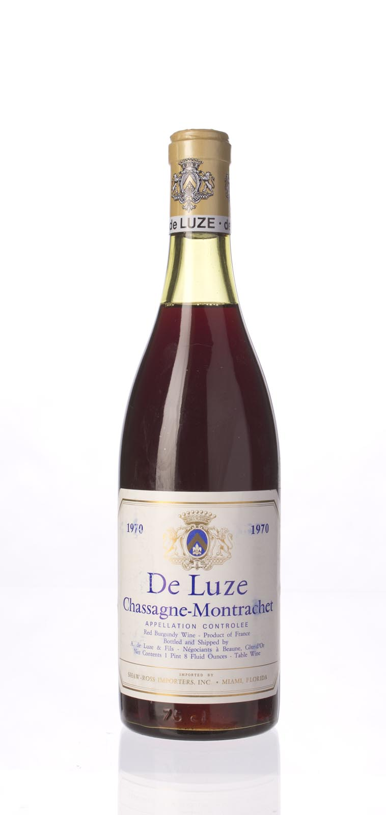 A. de Luze et Fils Chassagne Montrachet Rouge 1970, 750mL () from The BPW - Merchants of rare and fine wines.