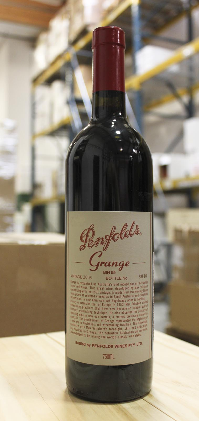 Penfolds Grange Shiraz 2008, 750ml (WA100) from The BPW - Merchants of rare and fine wines.