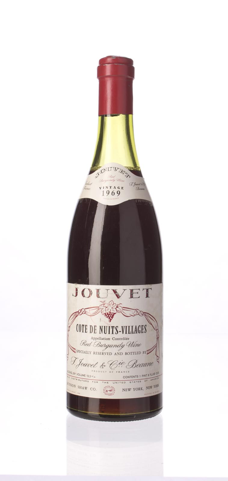 Jouvet Cote De Nuits Villages 1969, 750mL () from The BPW - Merchants of rare and fine wines.