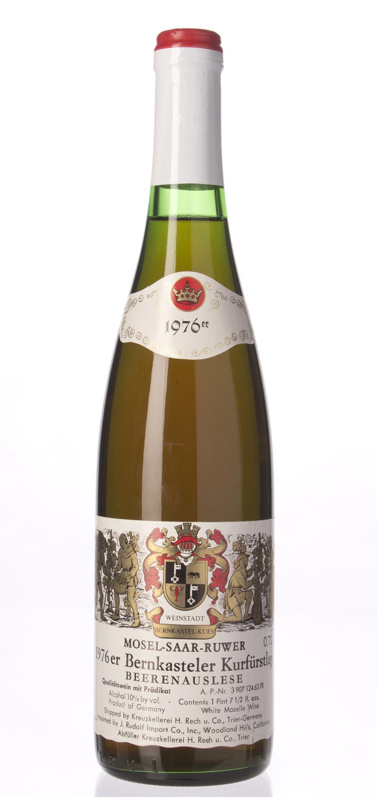 Kreuzkellerei H. Rech Bernkasteler Kurfustlay Riesling Beerenauslese 1976, 750mL () from The BPW - Merchants of rare and fine wines.
