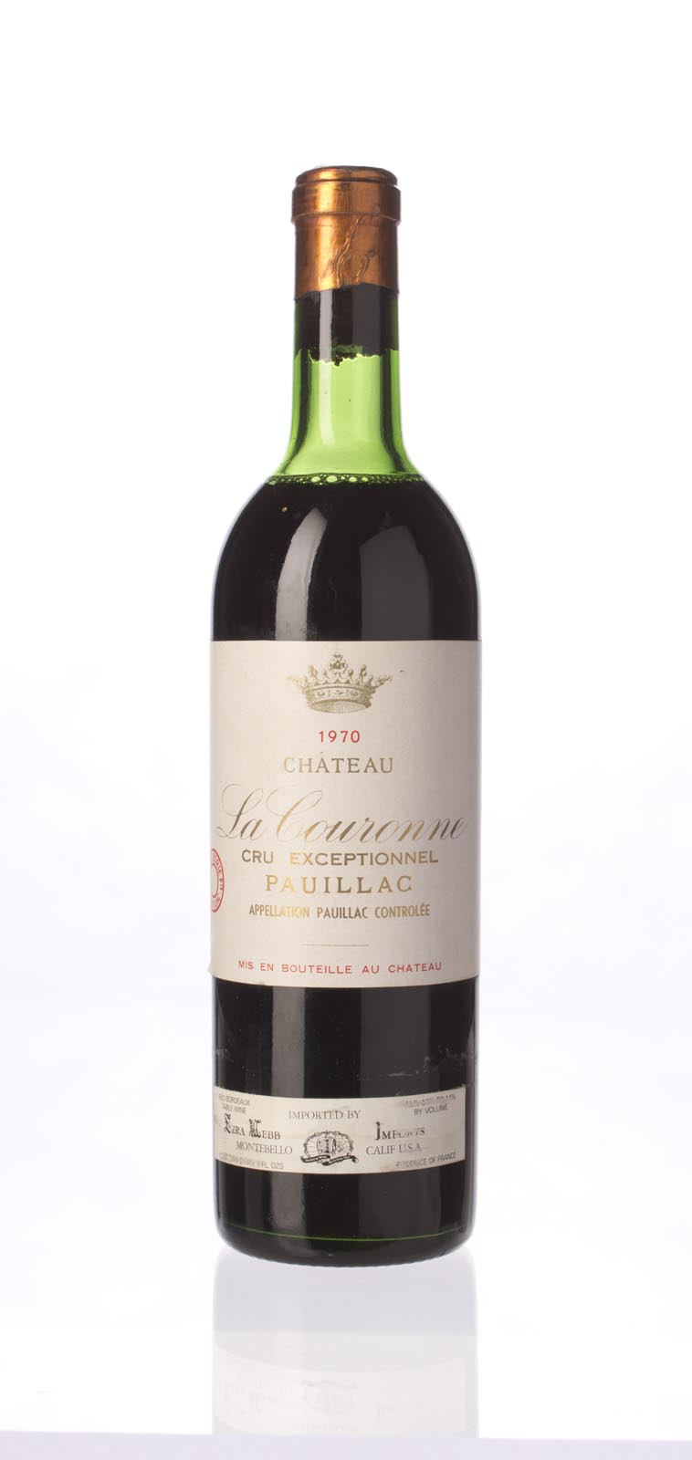 La Couronne 1970, 750mL () from The BPW - Merchants of rare and fine wines.