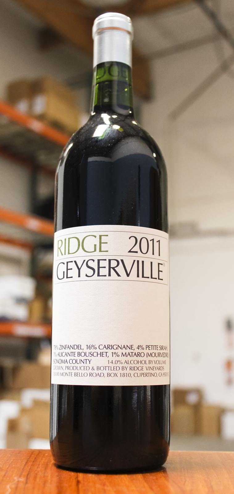 Ridge Proprietary Red Geyserville 2011, 750ml (WA91-93) from The BPW - Merchants of rare and fine wines.