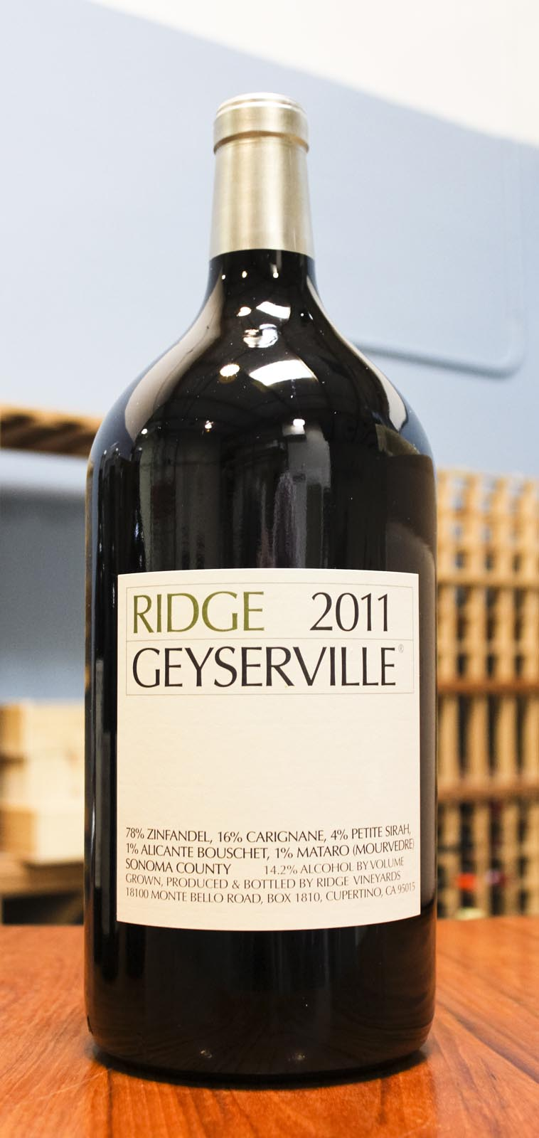Ridge Proprietary Red Geyserville 2011, 3L (WA91-93) from The BPW - Merchants of rare and fine wines.