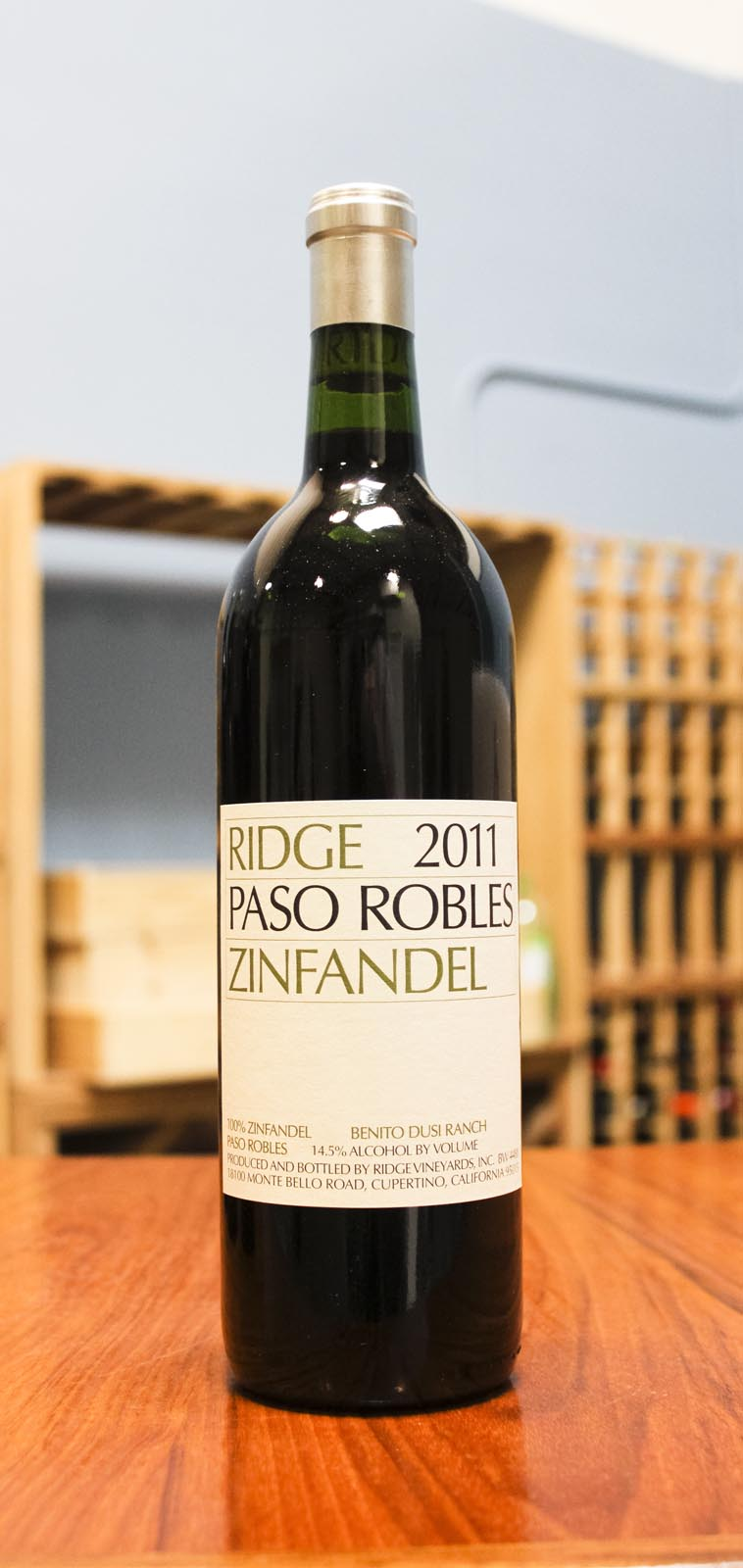 Ridge Zinfandel Paso Robles 2011, 750ml () from The BPW - Merchants of rare and fine wines.