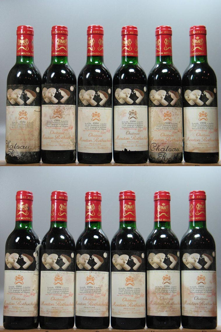 Mouton Rothschild 375mL (12 Bottles OWC) 1986, 750ml (WA100, WS99) from The BPW - Merchants of rare and fine wines.