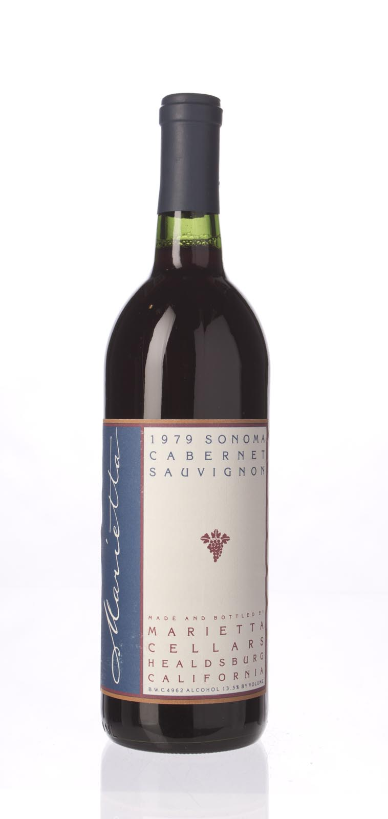 Marietta Cellars Cabernet Sauvignon 1979, 750mL () from The BPW - Merchants of rare and fine wines.