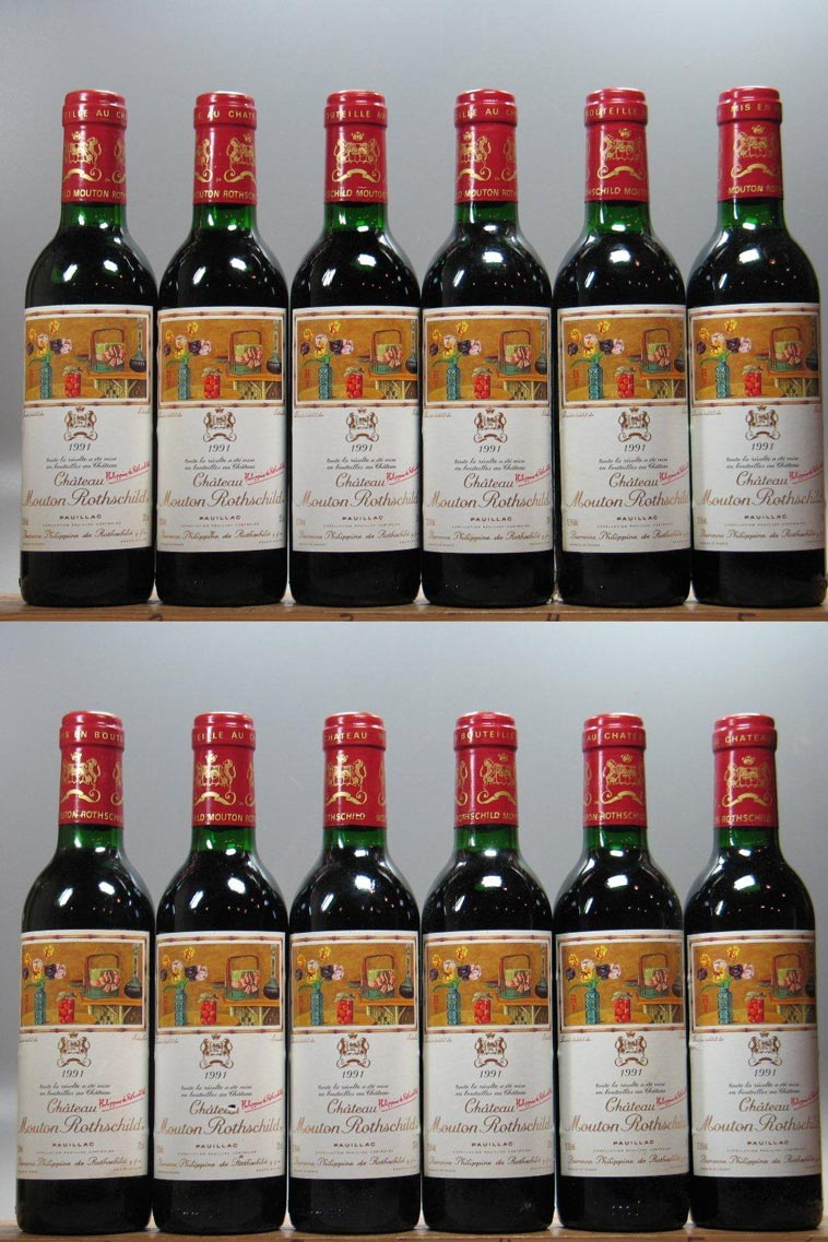 Mouton Rothschild (12 Bottle OWC) 375mL 1991, 750ml () from The BPW - Merchants of rare and fine wines.