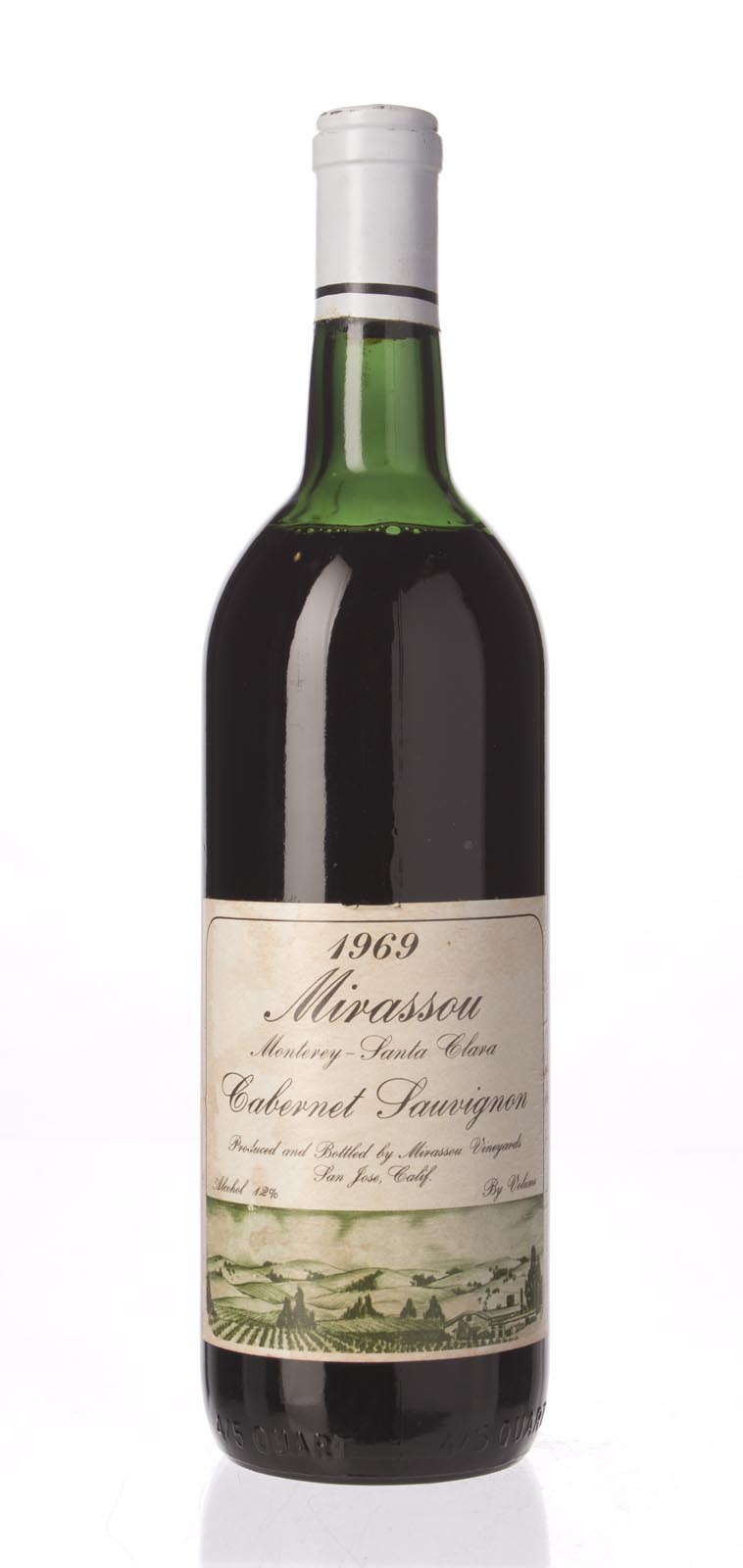 Mirassou Cabernet Sauvignon 1969, 750mL () from The BPW - Merchants of rare and fine wines.