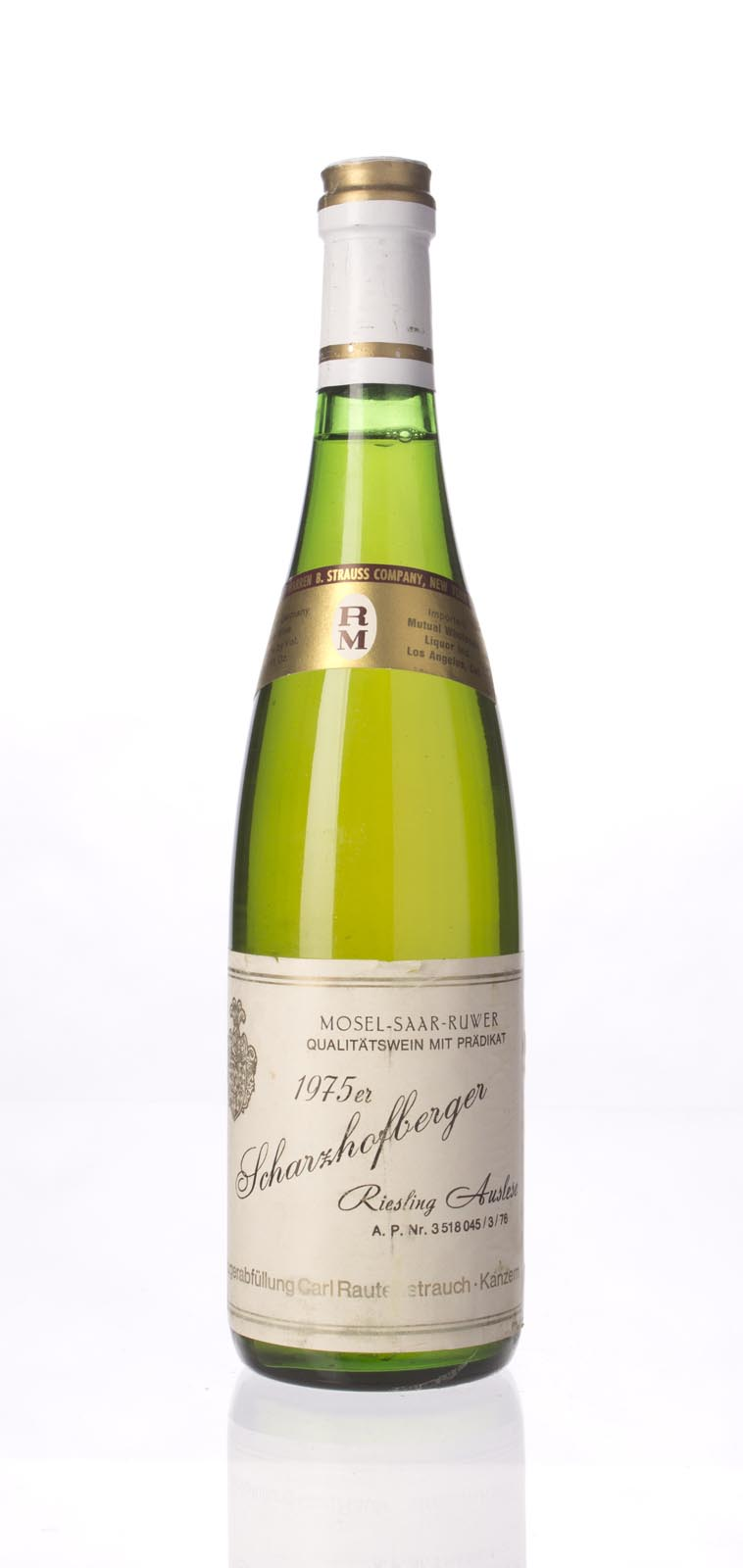 Rautenstrauch Scharzhofberger Riesling Auslese 1975, 750mL () from The BPW - Merchants of rare and fine wines.