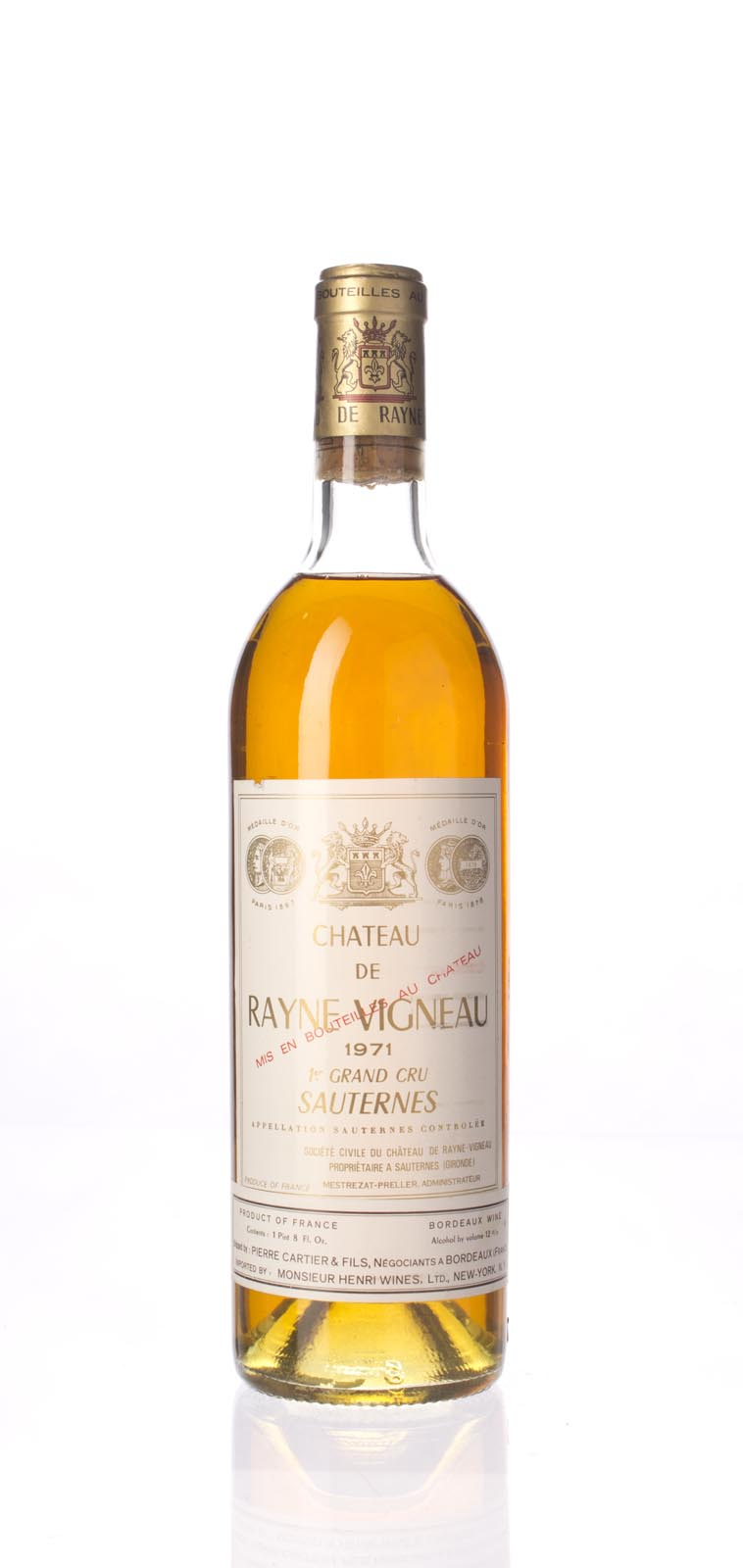 Rayne Vigneau 1971, 750mL () from The BPW - Merchants of rare and fine wines.