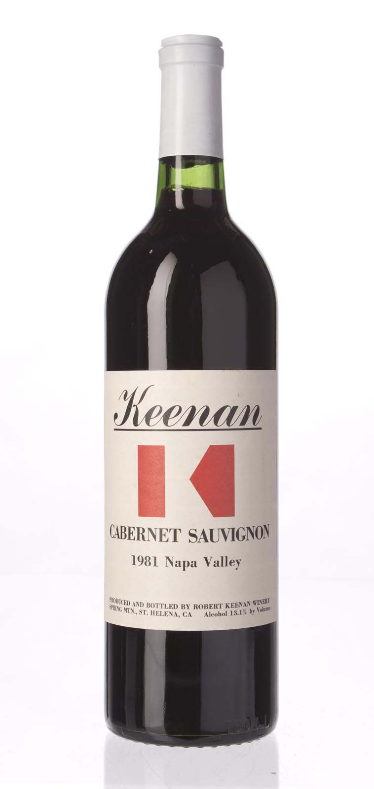 Robert Keenan Cabernet Sauvignon Napa Valley 1981, 750mL () from The BPW - Merchants of rare and fine wines.