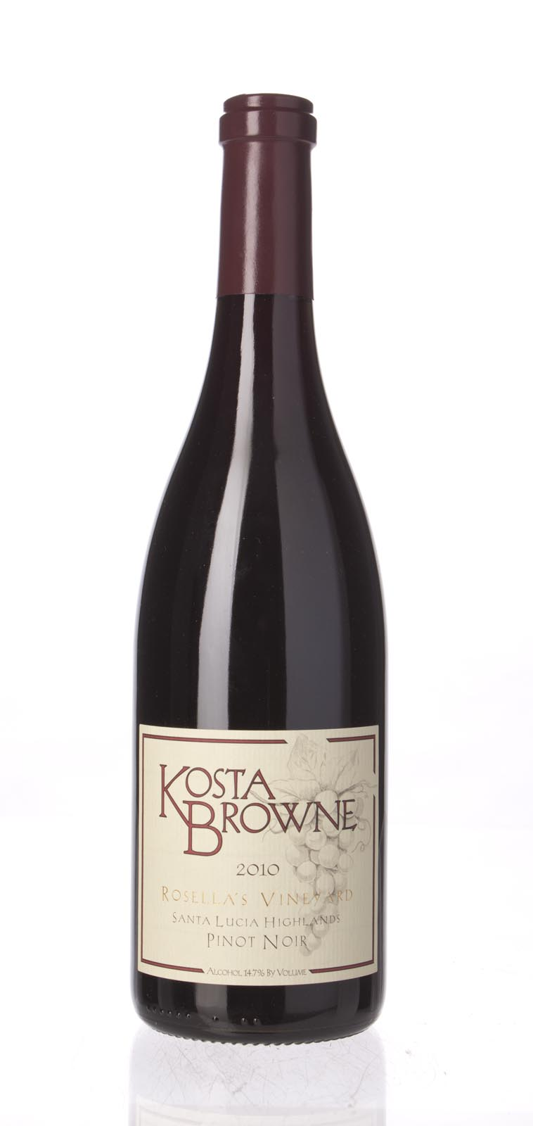 Kosta Browne Pinot Noir Rosella`s Vineyard 2010, 750mL (WS95) from The BPW - Merchants of rare and fine wines.