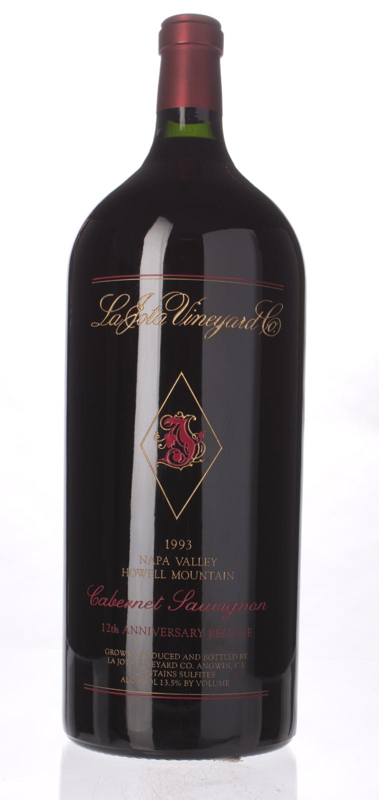 La Jota Cabernet Sauvignon Anniversary Release 1993, 6L (WA96) from The BPW - Merchants of rare and fine wines.