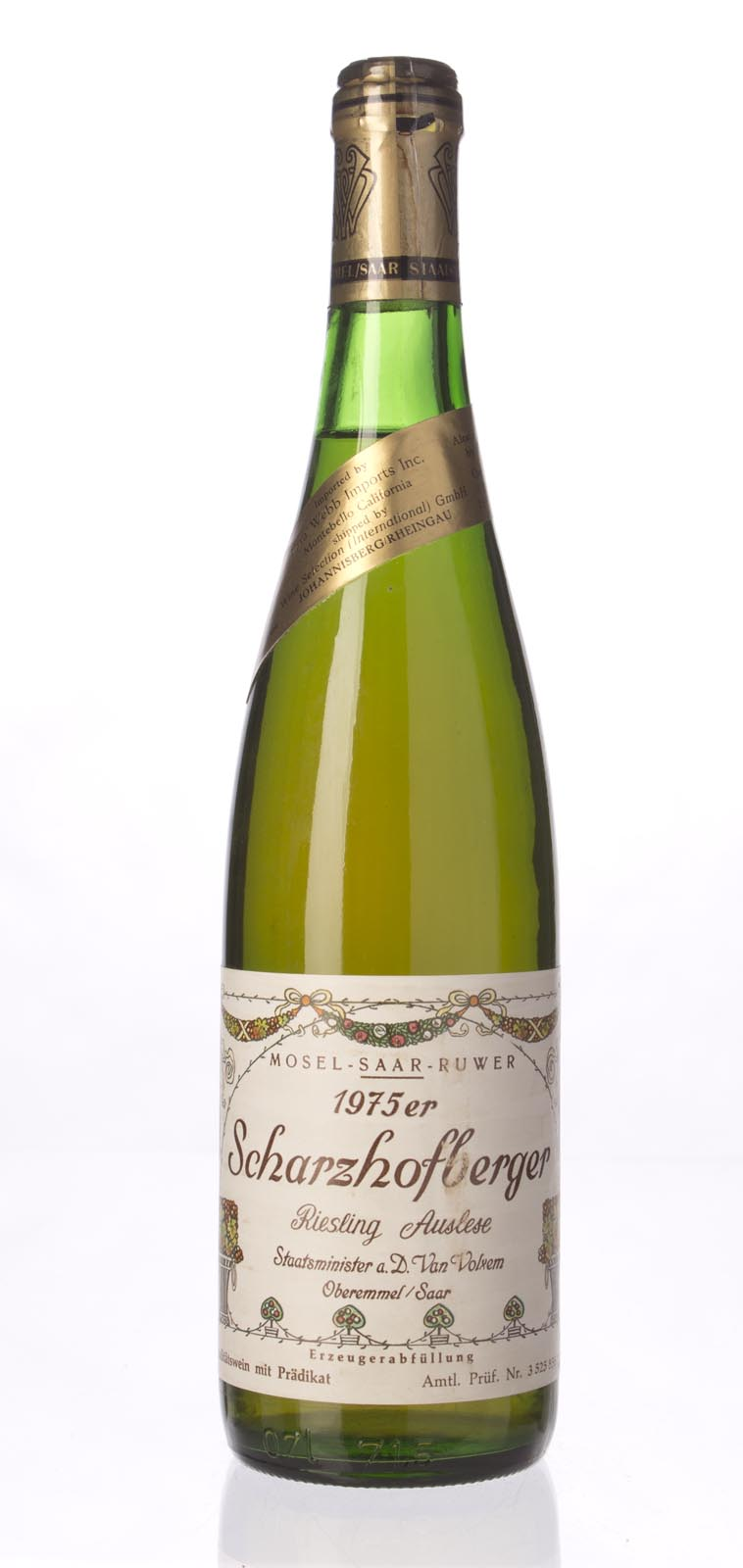 Van Volxem Scharzhofberger Riesling Auslese Gold Capsule 1975, 750mL () from The BPW - Merchants of rare and fine wines.