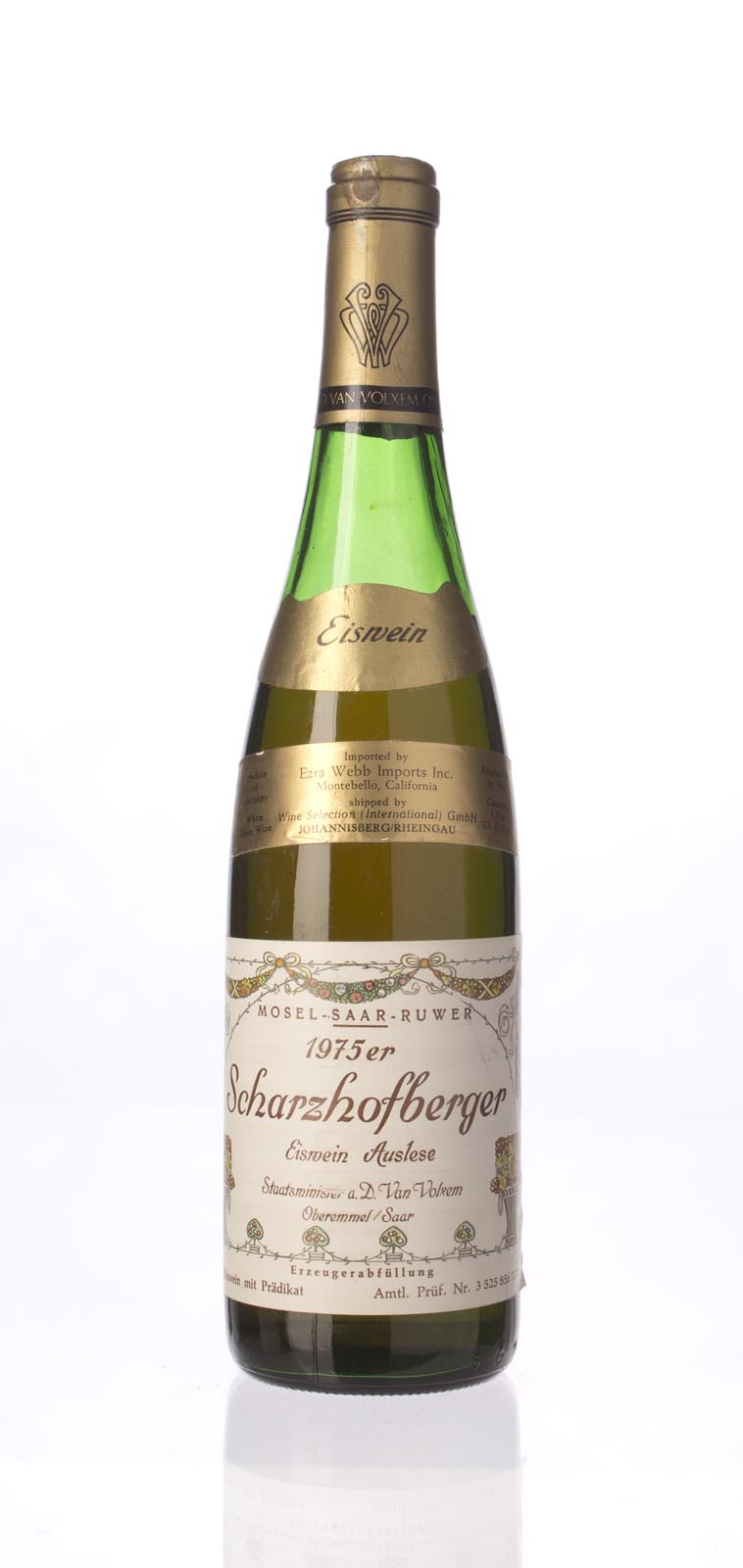 Van Volxem Scharzhofberger Riesling Eiswein Gold Capsule 1975,  () from The BPW - Merchants of rare and fine wines.