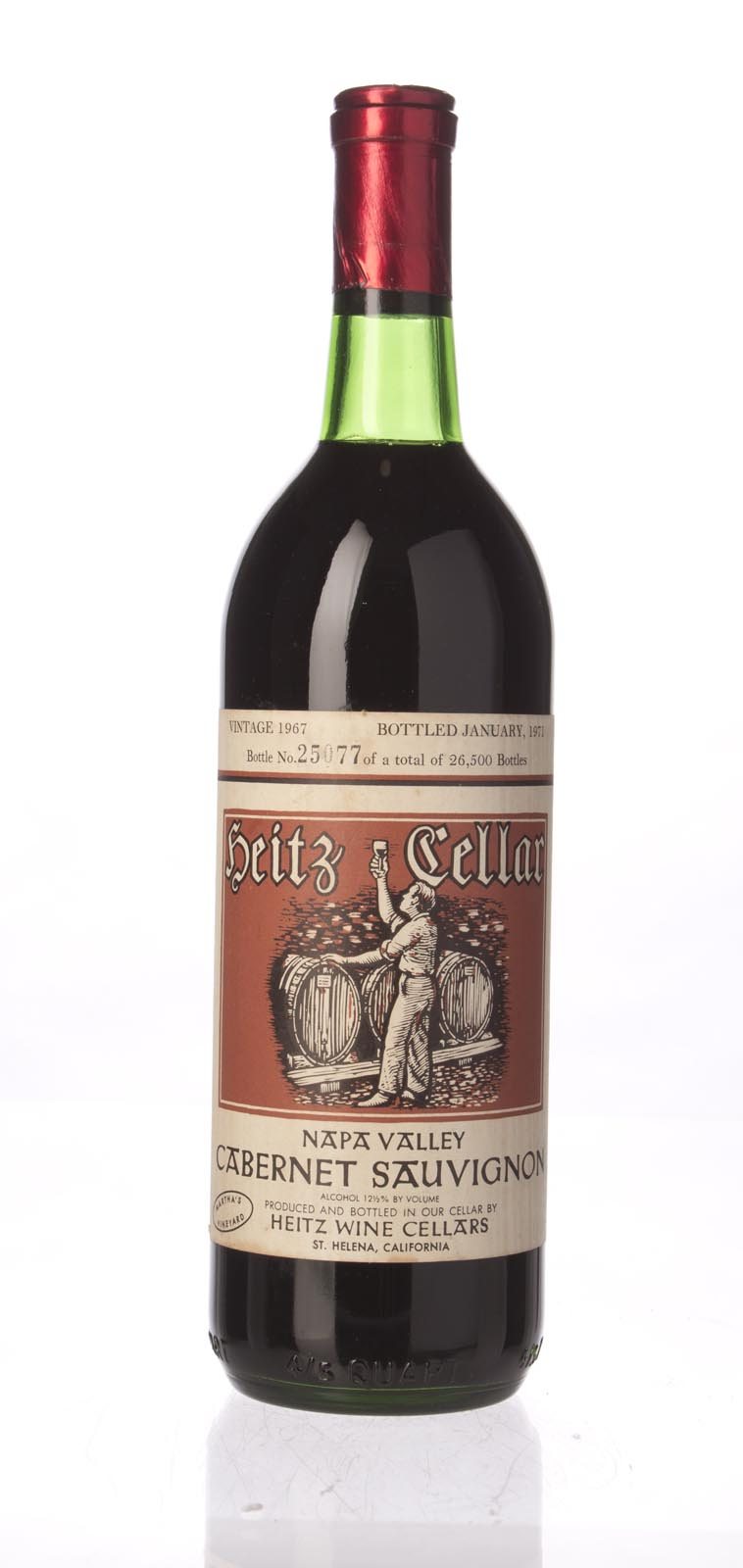 Heitz Cabernet Sauvignon Martha`s Vineyard 1967, 750mL () from The BPW - Merchants of rare and fine wines.