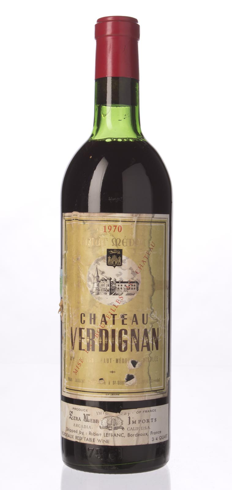 Verdignan 1970, 750mL () from The BPW - Merchants of rare and fine wines.