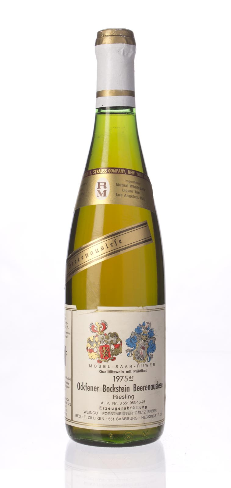 Zilliken Ockfener Bockstein Riesling Beerenauslese 1975, 750mL () from The BPW - Merchants of rare and fine wines.