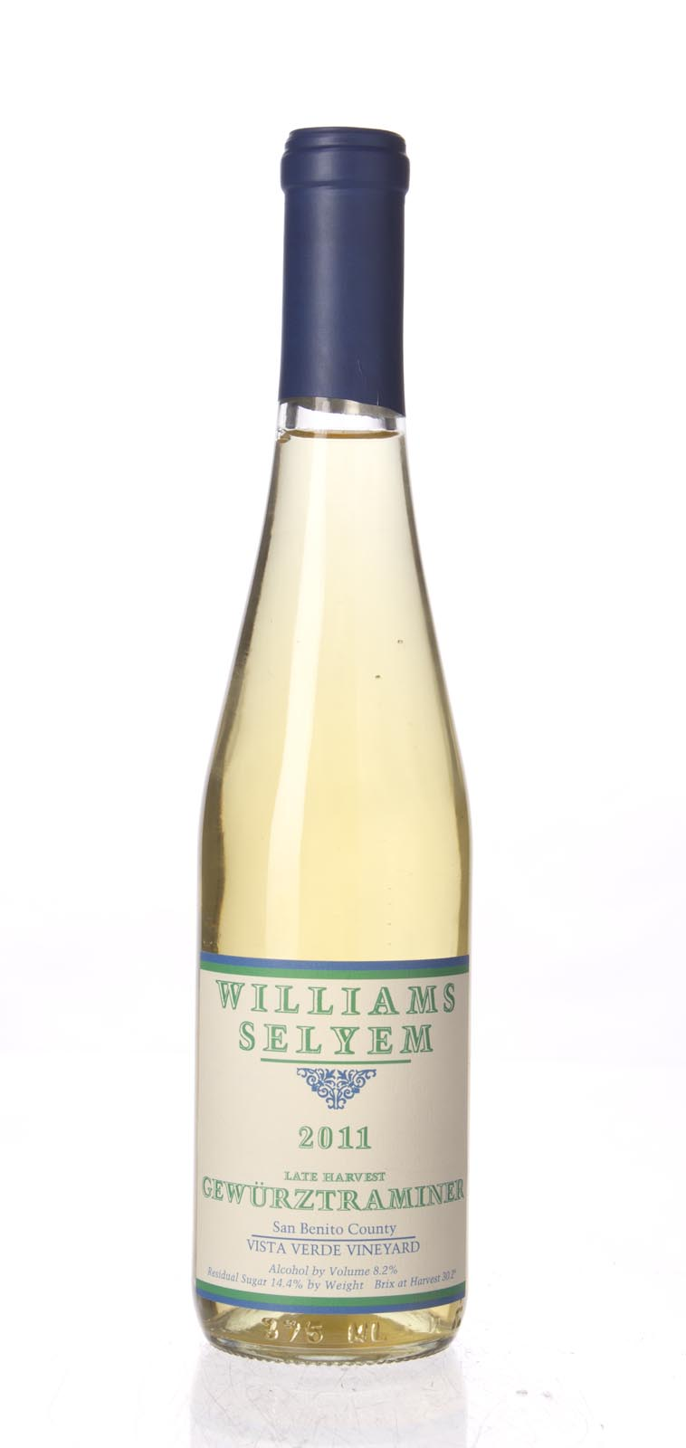 Williams Selyem Gewurztraminer Vista Verde Vineyard Late Harvest 2011, 375ml () from The BPW - Merchants of rare and fine wines.