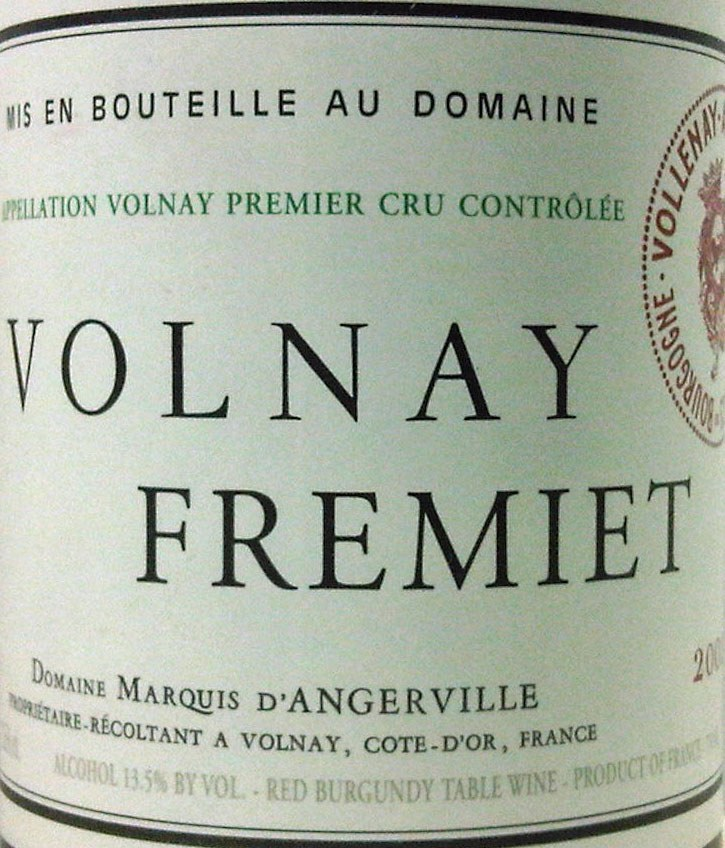 Marquis d`Angerville Volnay Fremiet 2011, 750ml (BH90-93) from The BPW - Merchants of rare and fine wines.