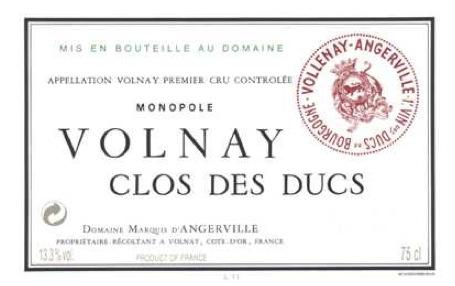 Marquis d`Angerville Volnay Clos des Ducs 2011, 750ml () from The BPW - Merchants of rare and fine wines.