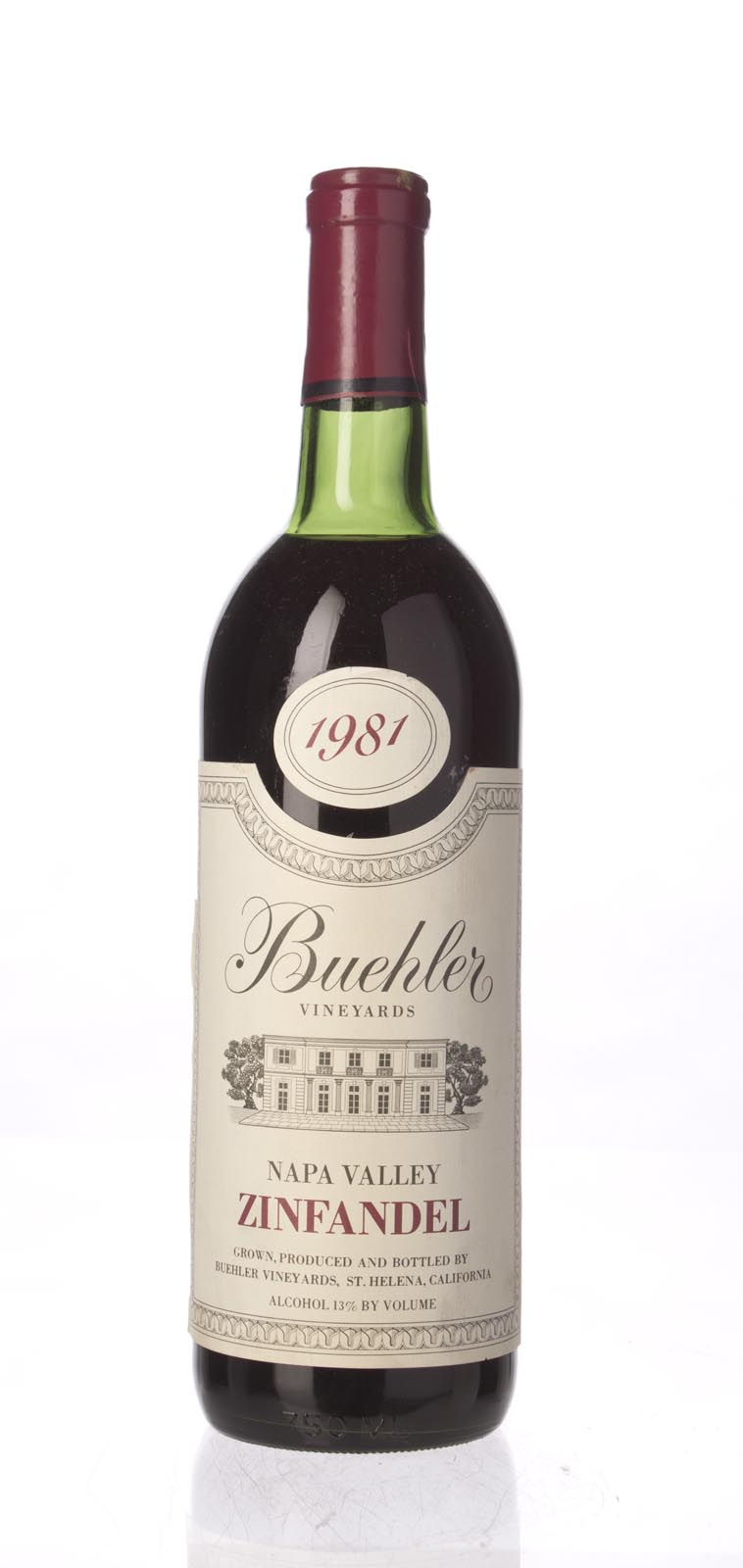 Buehler Zinfandel Napa Valley 1981, 750mL () from The BPW - Merchants of rare and fine wines.