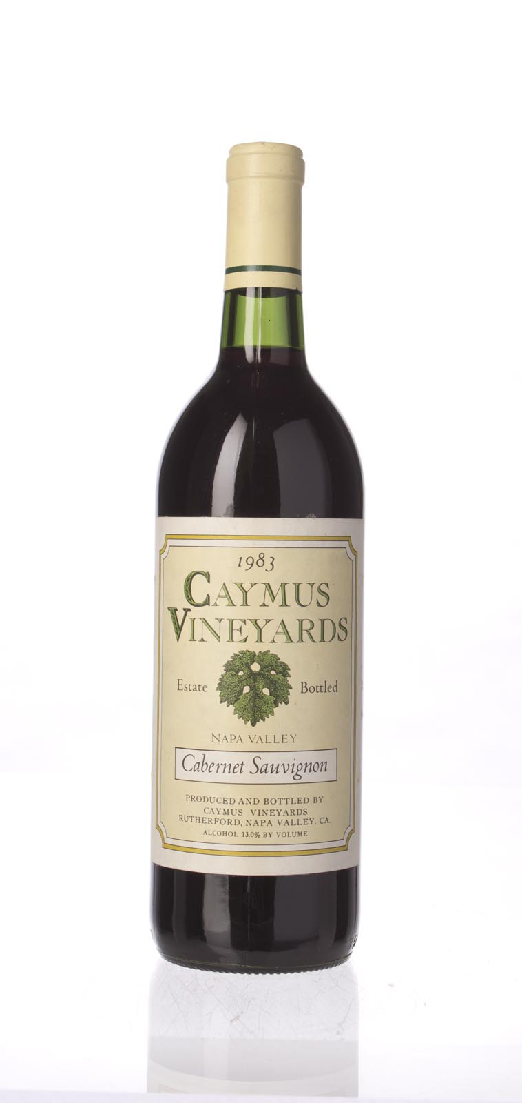 Caymus Cabernet Sauvignon Napa Valley 1983, 750mL (WS94) from The BPW - Merchants of rare and fine wines.