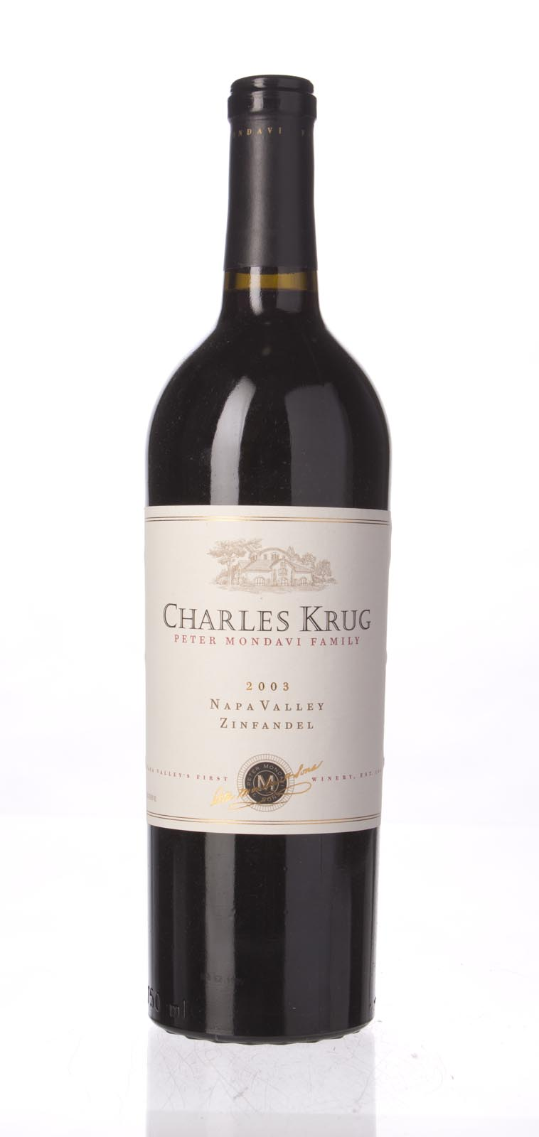 Charles Krug Zinfandel Napa Valley 2003, 750mL () from The BPW - Merchants of rare and fine wines.