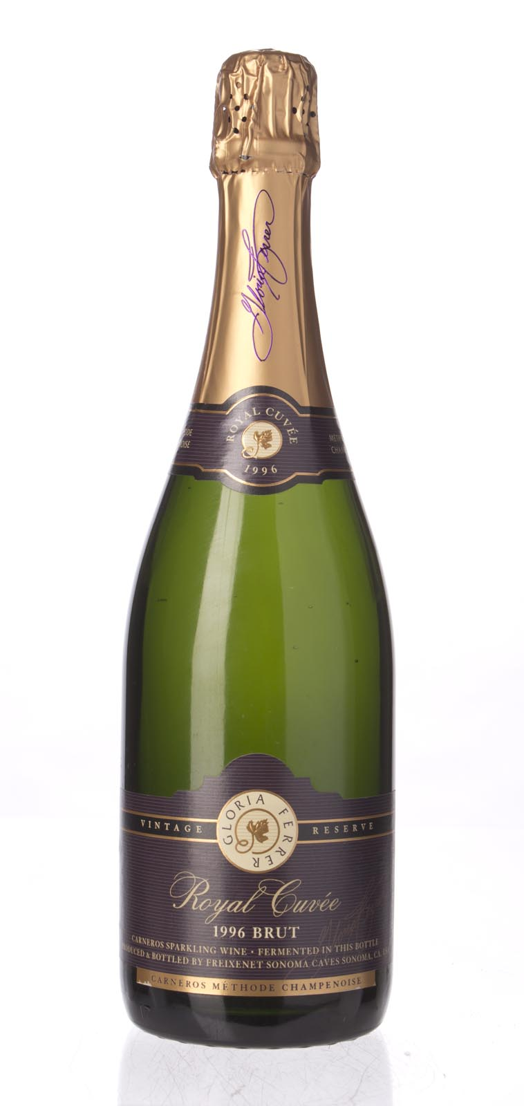 Gloria Ferrer Brut Carneros Royal Cuvee Vintage Reserve 1996, 750mL () from The BPW - Merchants of rare and fine wines.