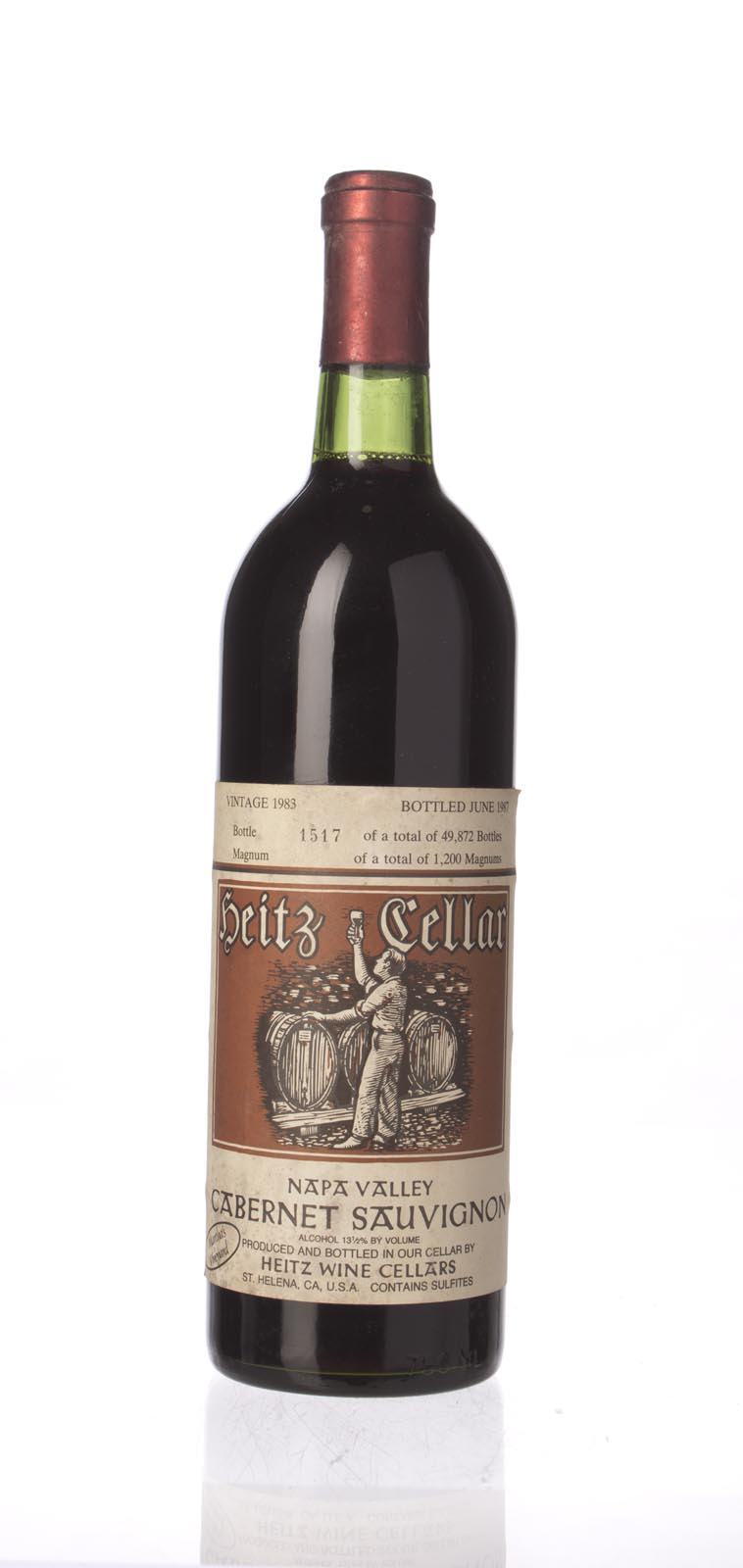 Heitz Cabernet Sauvignon Martha`s Vineyard 1983, 750mL (WS90) from The BPW - Merchants of rare and fine wines.
