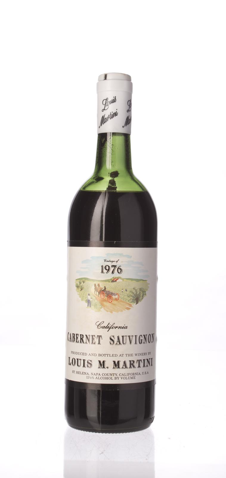Louis Martini Cabernet Sauvignon California Mountain 1976, 750mL () from The BPW - Merchants of rare and fine wines.