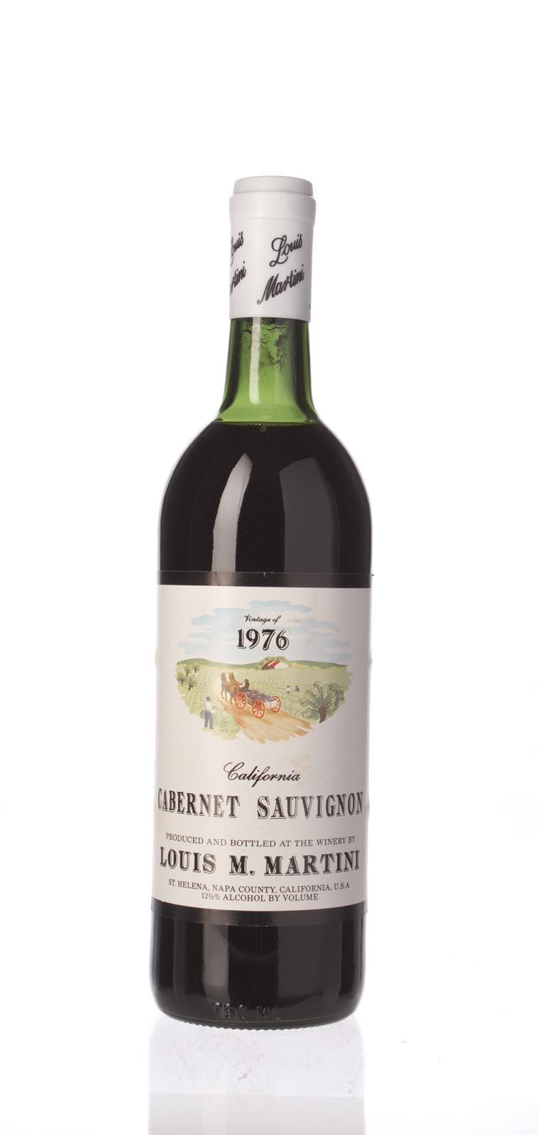 Louis Martini Cabernet Sauvignon California Mountain 1976,  () from The BPW - Merchants of rare and fine wines.