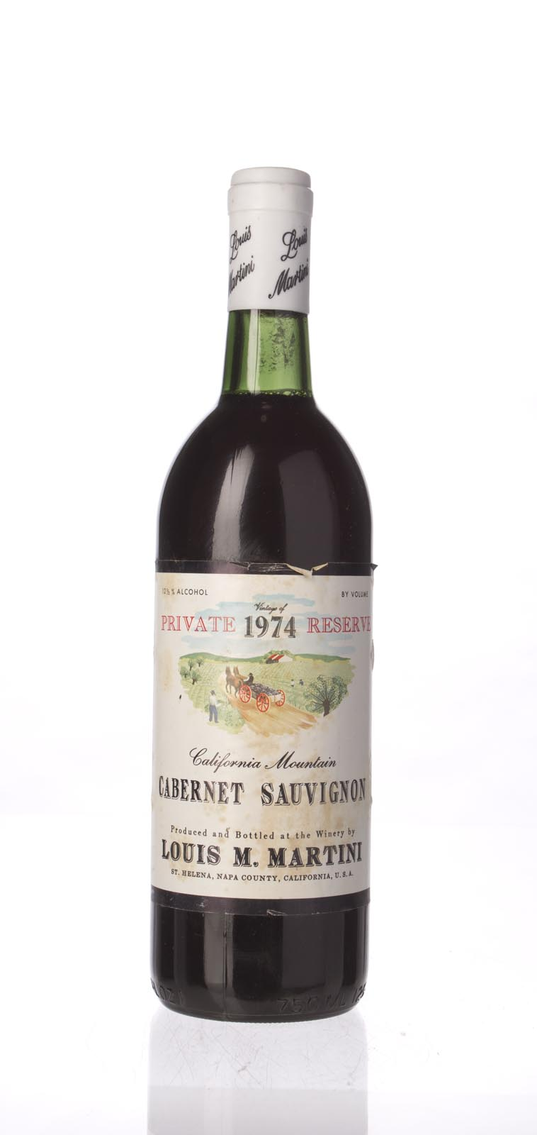 Louis Martini Cabernet Sauvignon Private Reserve 1974, 750mL () from The BPW - Merchants of rare and fine wines.