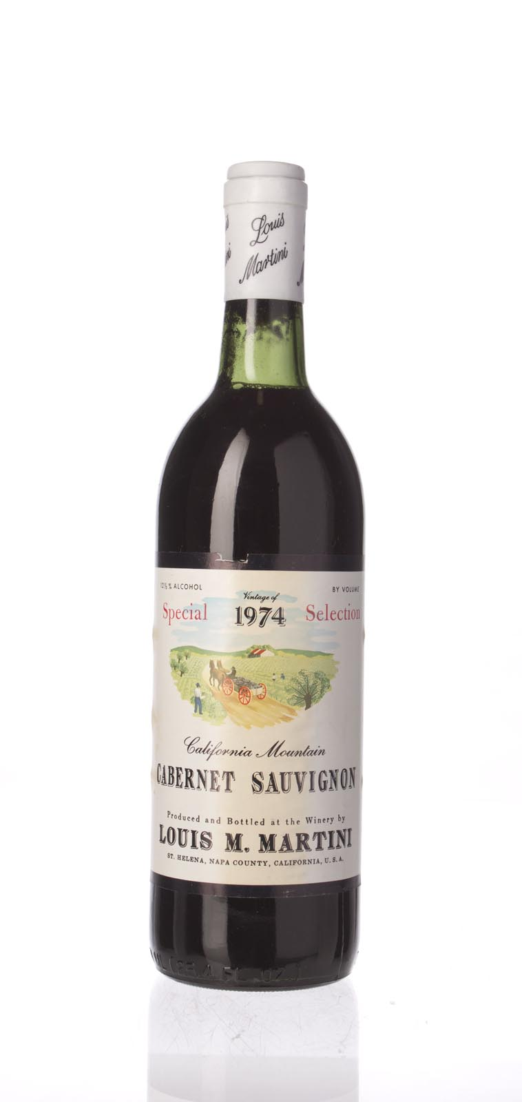 Louis Martini Cabernet Sauvignon Special Selection 1974, 750mL () from The BPW - Merchants of rare and fine wines.
