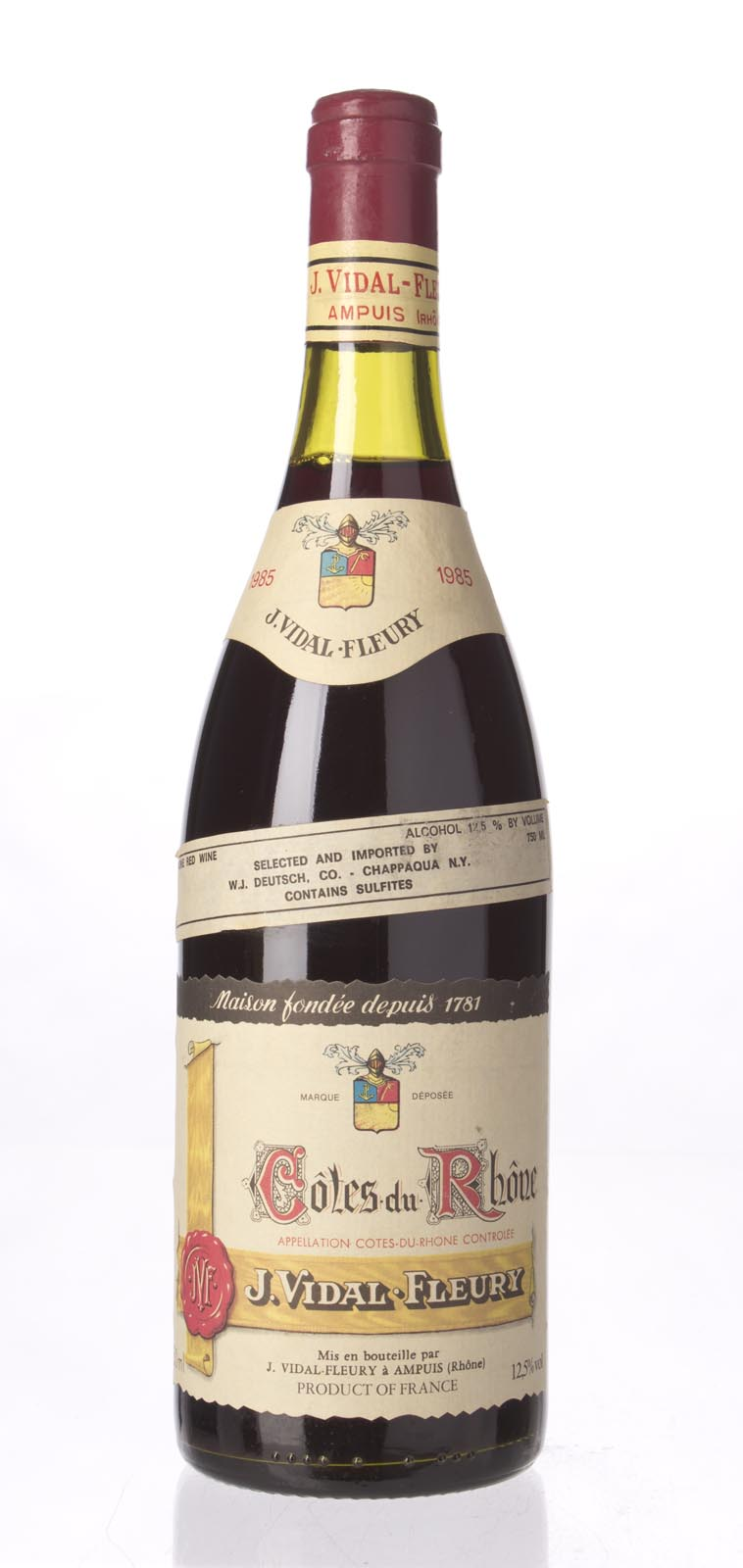Vidal Fleury Cotes du Rhone 1985, 750mL () from The BPW - Merchants of rare and fine wines.