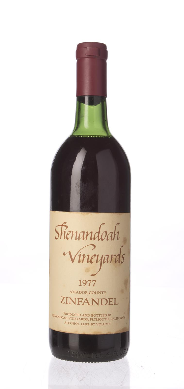 Shenandoah Zinfandel 1977, 750mL () from The BPW - Merchants of rare and fine wines.
