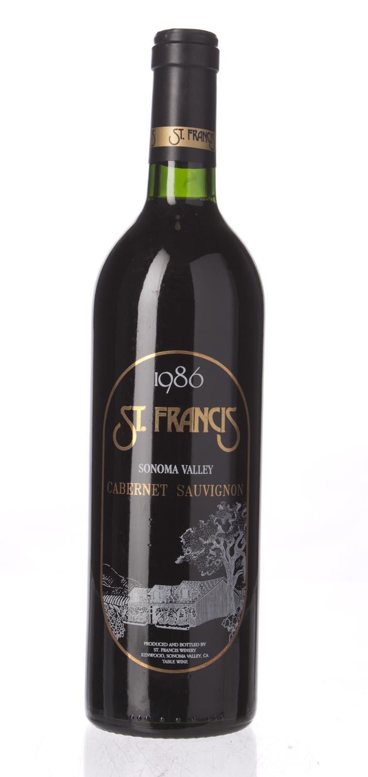St. Francis Cabernet Sauvignon Sonoma County 1986, 750mL (WA90) from The BPW - Merchants of rare and fine wines.