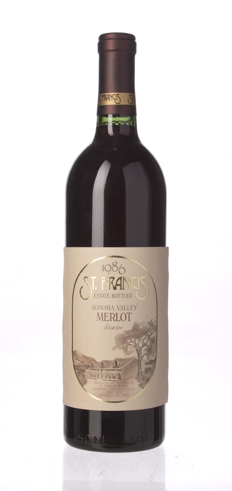 St. Francis Merlot Reserve 1986, 750mL (WS94) from The BPW - Merchants of rare and fine wines.