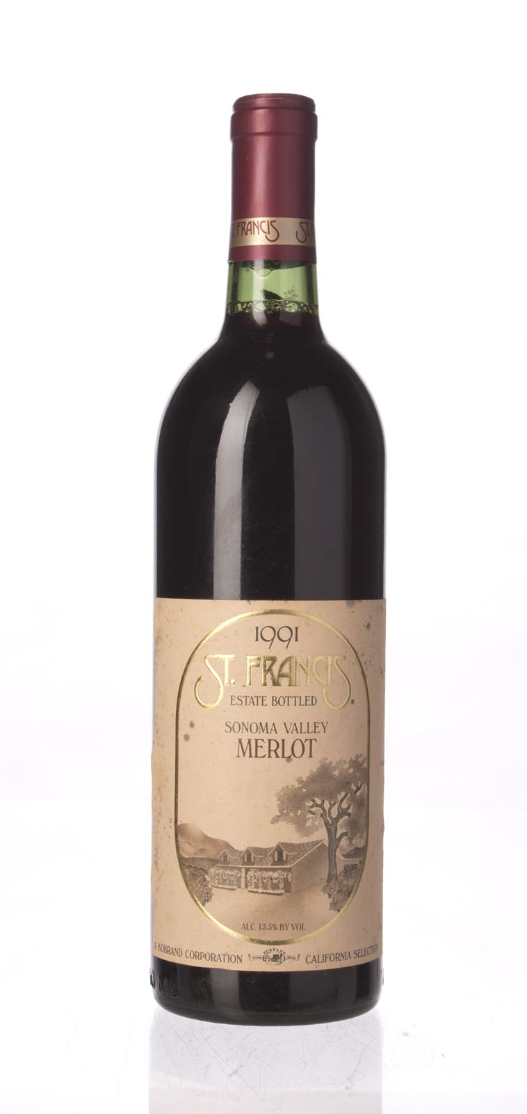 St. Francis Merlot Sonoma County 1991, 750mL () from The BPW - Merchants of rare and fine wines.