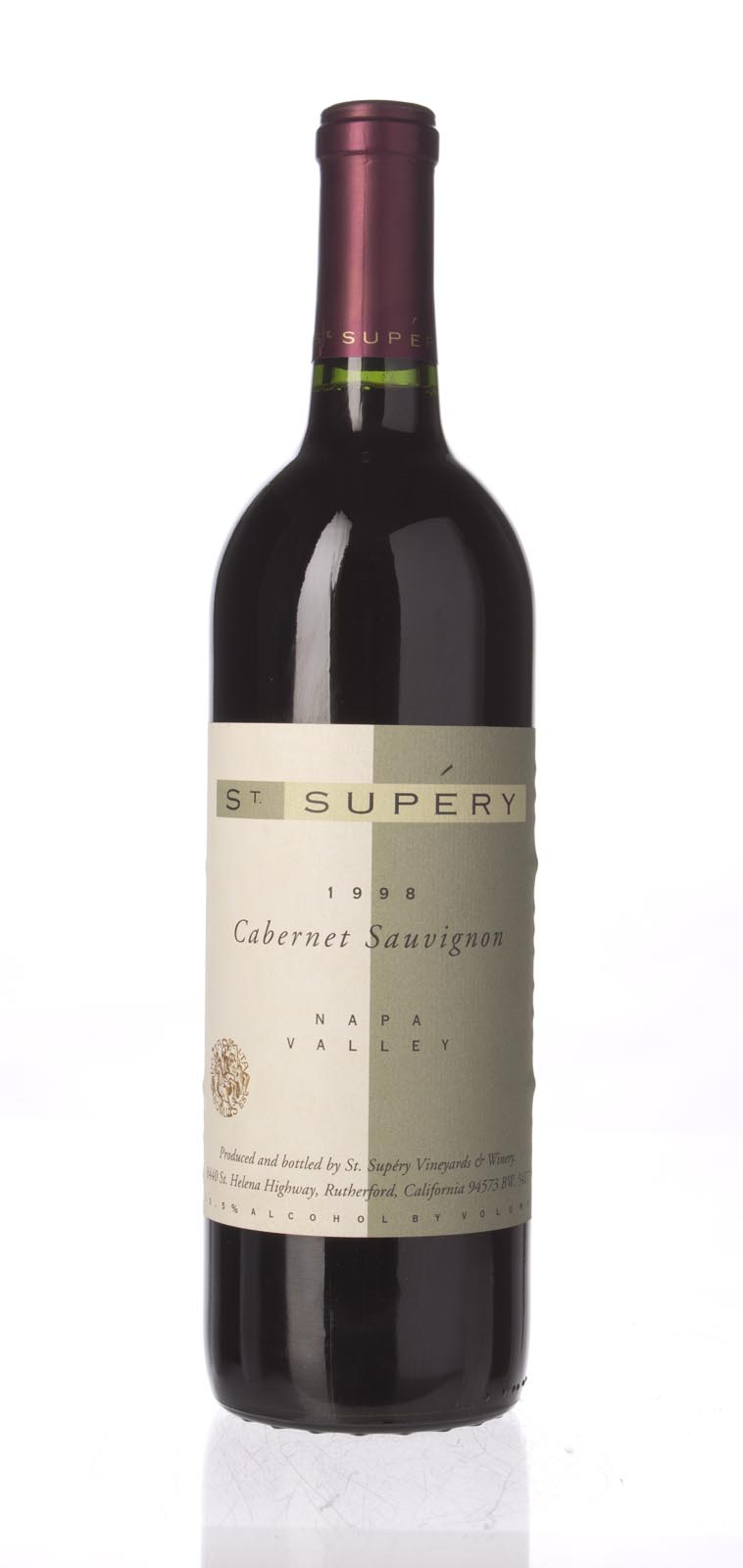 St. Supery Cabernet Sauvignon Napa Valley 1998, 750mL () from The BPW - Merchants of rare and fine wines.