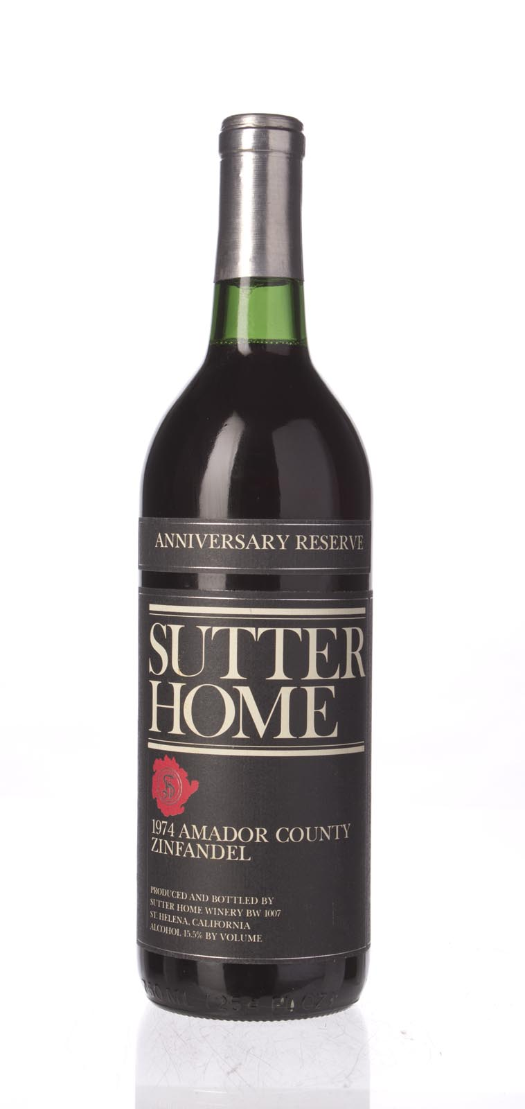 Sutter Home Zinfandel Reserve 1974, 750mL () from The BPW - Merchants of rare and fine wines.